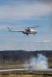Hélicoptère d'incendie Image libre de droits