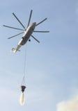 Hélicoptère d'incendie Photos libres de droits