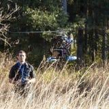 Hélicoptère d'UAV avec la caméra vidéo Image stock
