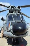 Hélicoptère de canonnière de puma Images stock