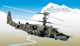 Hélicoptère de combat Photo libre de droits