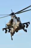 Hélicoptère de combat Images libres de droits