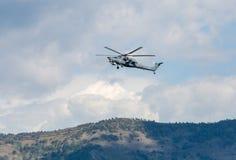 Hélicoptère de combat du mil Mi-28 Photo stock