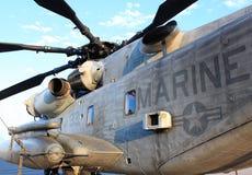 Hélicoptère de combat marin Photo stock