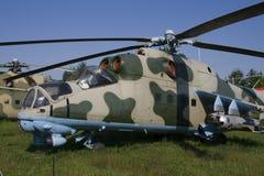 Hélicoptère de combat MI-24 Images libres de droits