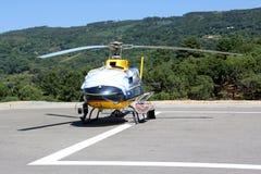Hélicoptère de délivrance Photo stock