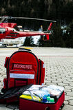 Hélicoptère de délivrance photo libre de droits
