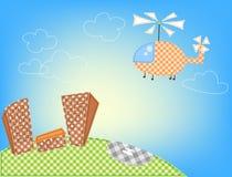 Hélicoptère de dessin animé Images stock