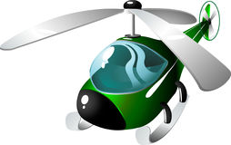 Hélicoptère de dessin animé Photos libres de droits