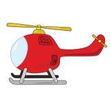 Hélicoptère de dessin animé Images libres de droits