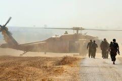 Hélicoptère de faucon de noir de Sikorsky UH-60 d'Israélien Images libres de droits