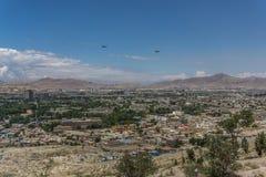 Hélicoptère de l'Afghanistan USA de ville de Kaboul Images stock
