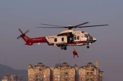 Hélicoptère de la délivrance EC225 Image libre de droits