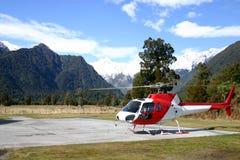 Hélicoptère de la Nouvelle Zélande Photos stock