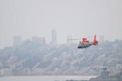 Hélicoptère de marine, Chili Photos libres de droits