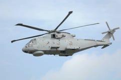 Hélicoptère de militaires de MERLIN Image libre de droits