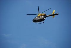 Hélicoptère de police Images libres de droits