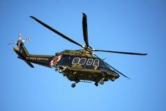 Hélicoptère de police d'état du Maryland images libres de droits
