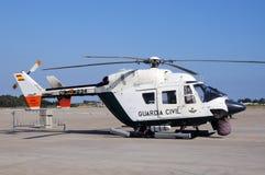 Hélicoptère de police espagnol Image libre de droits