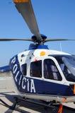 Hélicoptère de police espagnol Images stock