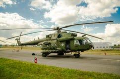 Hélicoptère de Radom de salon de l'aéronautique image libre de droits