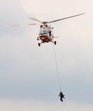 Hélicoptère de sauvetage Image libre de droits
