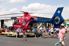Hélicoptère de secours Image libre de droits