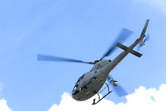 Hélicoptère de télévision Photos libres de droits