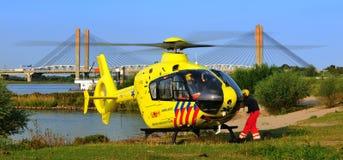 Hélicoptère de trauma de Durtch photographie stock libre de droits