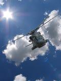 Hélicoptère de vol Image libre de droits