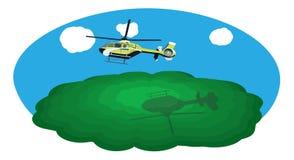 Hélicoptère de vol Photos libres de droits