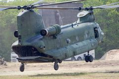 Hélicoptère du Chinook CH-47 Photos stock