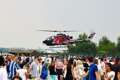 Hélicoptère du COBRA AH1-F de Bell à la POLARISATION 2015 Image libre de droits