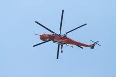 Hélicoptère du feu Image libre de droits