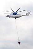 Hélicoptère du feu Photo libre de droits
