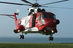 Hélicoptère du garde côtier Photo stock