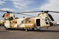 Hélicoptère du Maroc Chinook Image libre de droits