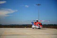 Hélicoptère en mer Image stock