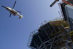 Hélicoptère en mer Photo stock