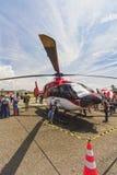 Hélicoptère exhibé au salon de l'aéronautique de bandage 2017 images libres de droits