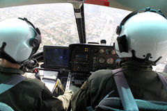 Hélicoptère intérieur image libre de droits