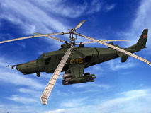 Hélicoptère KA-50 Photos libres de droits