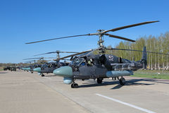 Hélicoptère Ka-52 Photo libre de droits