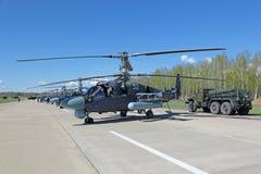 Hélicoptère Ka-52 Images libres de droits