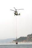 Hélicoptère Kamov ka-32 de pompier Photos libres de droits