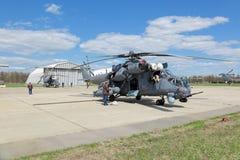 Hélicoptère Mi-35 Image libre de droits