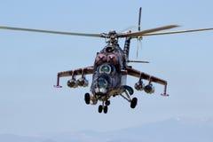 Hélicoptère Mi-24 Images libres de droits