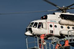 Hélicoptère MI 8 MTV 1 en Transylvanie Photo libre de droits