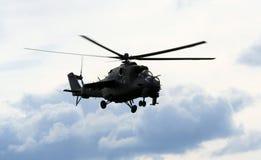 Hélicoptère MI24 Image libre de droits