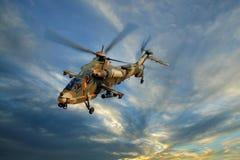 Hélicoptère militaire Image libre de droits